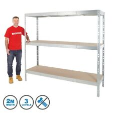Heavy Duty Garage Warehouse Racking Shelving Storage Unit Metal Shelves 300kgUDL