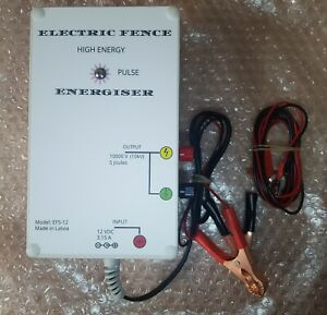 5 Joules 12V DC Electric fence energizer charger, Farm & Wild Animals