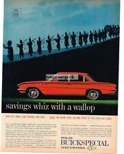 1961 BUICK  Special Red 4-door Sedan Scottish Bagpipers Vtg Ad