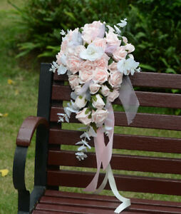 Waterfall Style Artificial Wedding Bouquet Bride/Bridesmaids' Handing Flowers