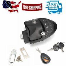 1set RV Keyless Entry Door Lock Latch Handle Knob Deadbolt Caravan Trailer Black