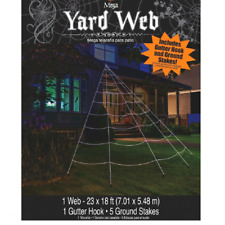 Mega Yard Spider Web Halloween Party Decor, Outdoor Giant Decoration New