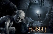 The Hobbit Movie Poster ~ Gollum Cave 22x34 Unexpected Journey Bilbo Sting