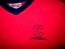 CORNELL COLLEGE vtg youth lrg fleece sweatshirt RAMS Iowa kids V-neck embroidery
