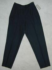 NWT Womens JONES NEW YORK Black LINEN PANTS At Waist 10 8 6 Leg30 MadeUSA