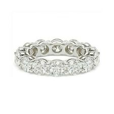 6.00 ct F Vs2 Round Cut Diamond Wedding Eternity Band