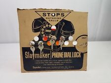 Vintage Slaymaker - Phone Dial Lock - Counter Display Card with 4 New Locks  00004000 and