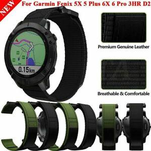 Nylon Wrist Band Strap For Garmin Fenix 6X 6 6S Pro 5X 5 5S 3HR 935 945 MK1 Mk2i