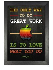 Steve Jobs 3 Motivation Inspiration Quote Poster Apple Company Photo Work Love