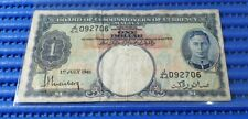 1941 Board of Commissioners of Currency Malaya $1 Note J/44 092706 KGVI Currency