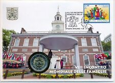 Vatikan 2015 amtl. Numisbrief mit 2 € Euro GM Weltfamilientreffen Philadelphia