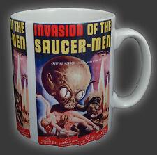 Invasion soucoupe Hommes bmovie Sci Fi Horreur Affiche Vintage Culte Café Thé Tasse