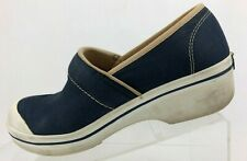 Dansko Vegan Canvas Clogs Blue Nursing Professional Work Shoes Womens 38 7.5/8