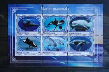 Wale 29 whales Delfine Meerestiere sea animals Fauna KB Block postfrisch ** MNH