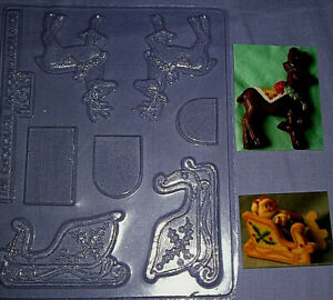 MEDIUM SIZE 3 DIMENSIONAL CHRISTMAS SLEIGH AND REINDEER CHOCOLATE MOULD