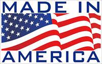 "5"" made in America red white blue bumper sticker decal made in usa"