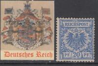 GERMANY - 1889 - Mi 48a  cv 300$  MH*