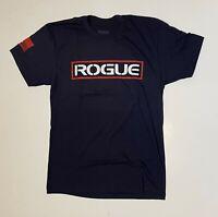 Rogue Fitness Navy Blue T-Shirt Men's Athletic Fit Cotton Blend NEW - XL size