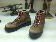 VINTAGE FABIANO BROWN LEATHER LACE UP MOUNTAINEERING HIKING BOOTS 6.5 M