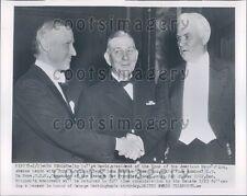 1954 SAR Pres Cullom Davis US Senator JW Bricker OH Adm LT Du Bose Press Photo