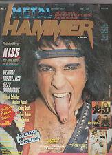 Metal Hammer Nr. 2 1987 Kiss,Venom, Metallica, Helloween Anthrax + Poster+ Flexi