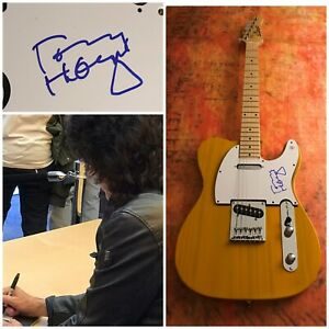 GFA Kiss Band Guitarist TOMMY THAYER Signed Electric Tele Guitar PROOF COA