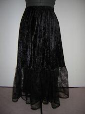 black velvet cobweb skirt custom made 10 12 14 16 18 20 22 24 26 28 30 32 34 36