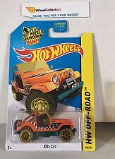 Treasure Hunt * Jeep CJ-7 #101 Orange * 2015 Hot Wheels * H3