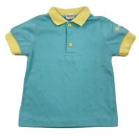 Vintage Kitestrings Collared Polo T-Shirt Short Sleeve Size 4T Blue Yellow
