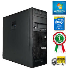 PC COMPUTER DESKTOP FISSO TOWER LENOVO QUAD CORE i7 RAM 8GB HDD 500GB WINDOWS 7