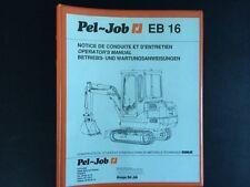 #023 Pel Job eb16 Manuel d'utilisation opération Manual