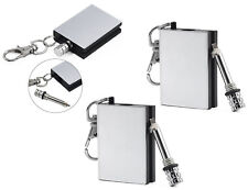 PERMANENT METAL MATCH BOX LIGHTER STRIKER GAS REFILLABLE BUY 1 GET 1 FREE