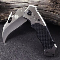 Claw Pocket Folding Knife 440 Steel Blade Karambit Tactic Survival Hunting Gift
