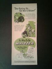 1948 Whizzer Motor Bike Memorabilia~Bicycles Stop Pedaling Transportation Art AD