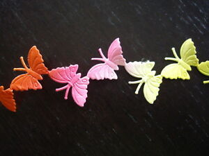 5m Rainbow Butterfly Embossed Satin Ribbon Die Cut Craft Sewing Card Making