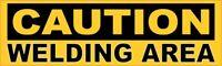 10in x 3in Caution Welding Area Sticker Vinyl Window Decal Car Truck Vehicle ...