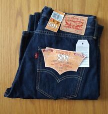 Genuine Levi's 501 Mens Jeans Dark Blue W32 L32