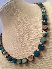 Swarovski Crystal Elements Fall Colors In Antique Copper Cup Chain 8mm Jewelry