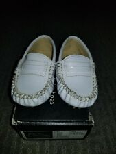 659181c0b1f3 LNC Trumpette Baby Unisex Boys   Girls 12-18 Months White Baby Loafer Shoes