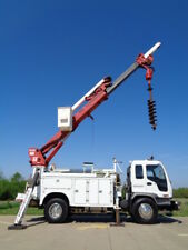 48' Digger Derrick Crane Truck Service Utility Auger Pole Boom Bucket Mechanics