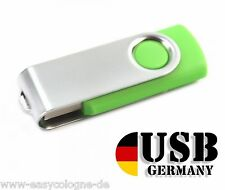 2GB USB Stick - GRÜN - USB 2.0 Flash Drive Memory Stick