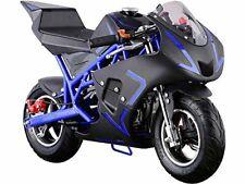 MotoTec Cali Gas Pocket Bike 40cc 4-Stroke Blue 40cc Blue