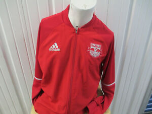 ADIDAS MLS NEW YORK RED BULLS RED XL SEWN ZIP-UP TRAINING RED JACKET NWT