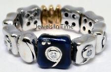 Nouvelle Bague Ladies 18k White & Rose Diamond & Enamel Ring 6.5