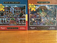 2011 PREMIUM 2 PACK- DOWDLE FOLK ART-NOAH'S ARK/DAY AT THE ZOO PUZZLES-NEW!!