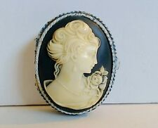 Estee Lauder Solid Perfume Compact Cameo Pearls Rose Blue White Enamel YD 1977