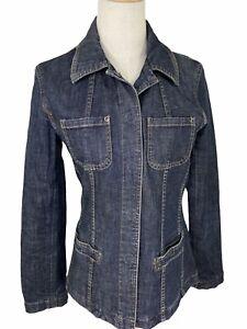 Sportscraft Blue Denim Womens Jacket Size 10 Stretch Cotton Like New