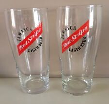 2 - Red Stripe - Jamaica Lager Beer - Pint Glasses Home Bar