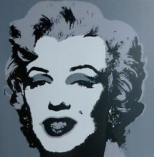 "ANDY WARHOL MARILYN MONROE GREY SUNDAY B.MORNING Silk-screen 11.24 COA 36""x36"""