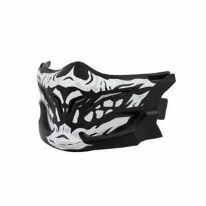 Scorpion Adult Covert Skull Face Mask Black White Chin Guard Motorcycle Helmet